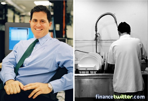 Michael Dell Washed Dishes