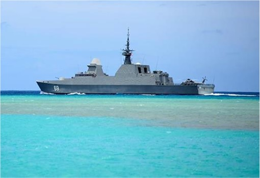 RIMPAC 2014 - The Republic of Singapore Navy's ship RSS Intrepid (F 69)