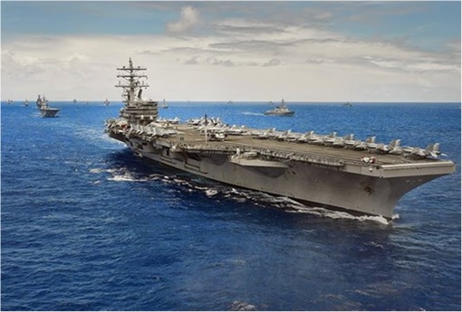 RIMPAC 2014 - USS Ronald Reagan (CVN 76) steams in close formation