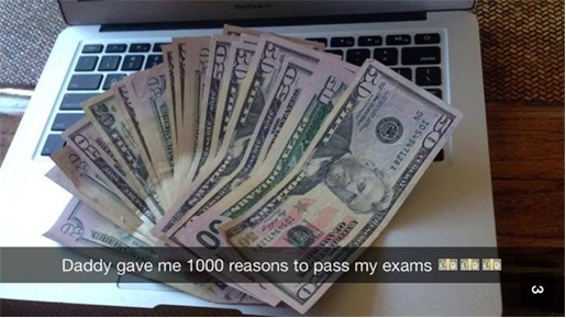 Rich Kids of SnapChat - Daddy gave 1000 reasons to pass exams