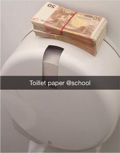 Rich Kids of SnapChat - Money on Toilet Paper