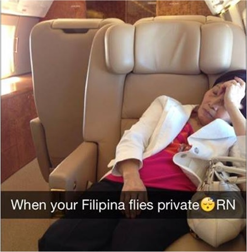 Rich Kids of SnapChat - Philippino Maid flies Private Jet