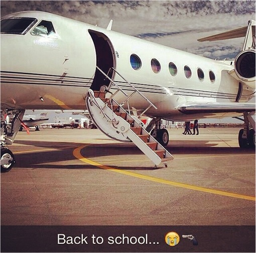 Rich Kids of SnapChat - Private Jet back to School