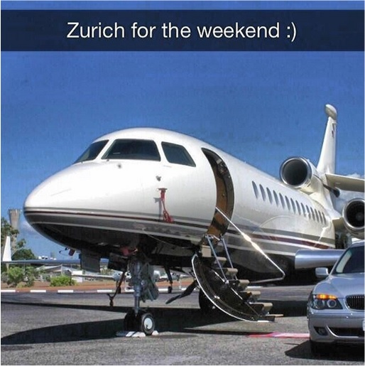 Rich Kids of SnapChat - Private Jet to Zurich for Weekend
