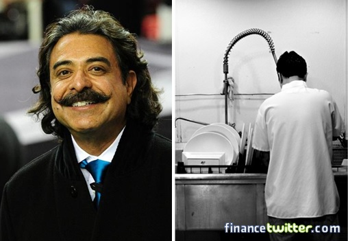 Shahid Khan Washed Dishes