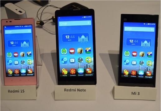 Xiaomi Redmi 1S, Note, Mi3