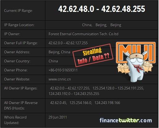 Xiaomi Redmi Note Stealing Data Information - traceback CNNIC
