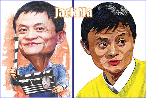 Alibaba Jack Ma - Caricature - Richest Man in China