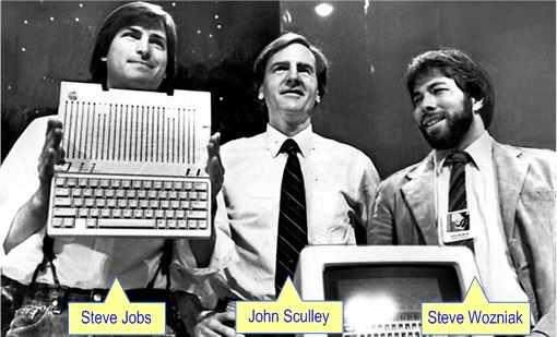 Apple - Steve Jobs, John Scully, Steve Wozniak