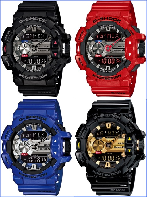 CASIO G-SHOCK G'MIX GBA-400 - Four Colours