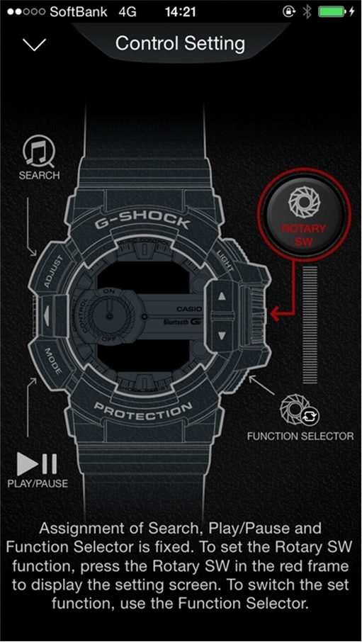 CASIO G-SHOCK G'MIX GBA-400 - Smartphone G'Mix application