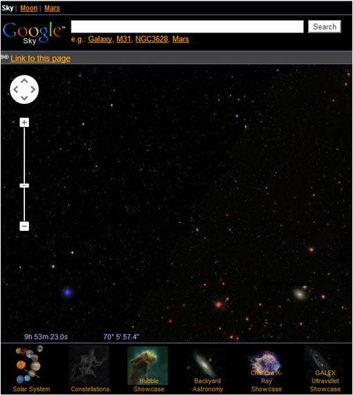 Fabulous and Cool Google Capabilities - Explore Moon, Mars or Galaxy