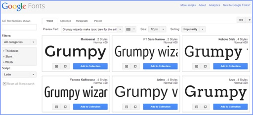Fabulous and Cool Google Capabilities - Find Beautiful Font and Use for Free