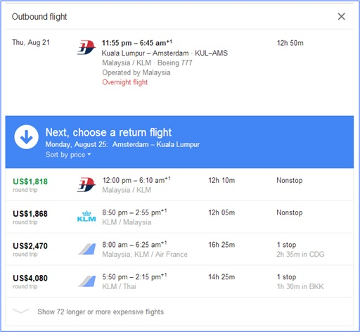 Fabulous and Cool Google Capabilities - Find Flights and Ticket Prices 2
