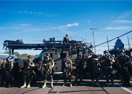 Ferguson Clashes - Ferguson Police Like Military Unit - In Armoured Vehicles 4