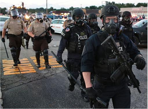 Ferguson Clashes - Ferguson Police Like Military Unit - In Full Gear 3