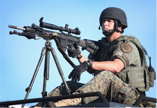 Ferguson Clashes - Ferguson Police Like Military Unit - Sniper 1