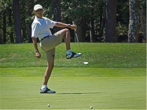 Ferguson Crisis - Obama Golfing