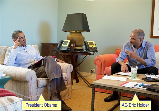 Ferguson Crisis - President Obama discussing with Attorney General Eric Holder