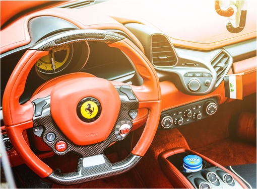 Gold Ferrari 458 Spider FI IRAK- dashboard