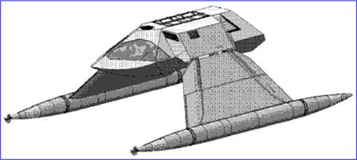Juliet Marine Systems Ghost Stealth Warship - Design Draft 1