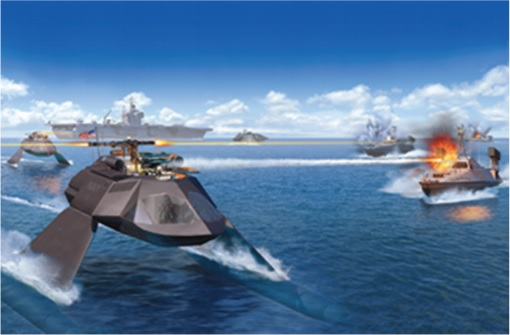 Juliet Marine Systems Ghost Stealth Warship - The Future of Force Protection - Illustration