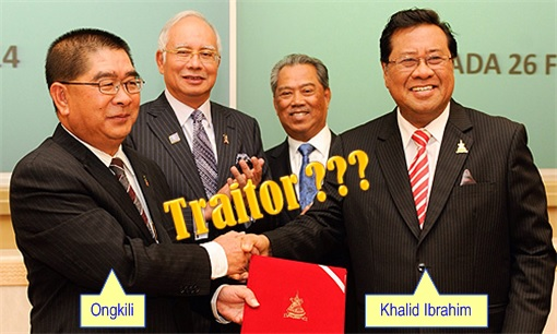 Khalid Signing Langat 2 water treatment facility