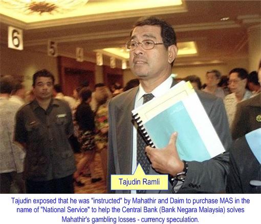 Malaysia Airlines Bailout - Tajudin Ramli Exposure