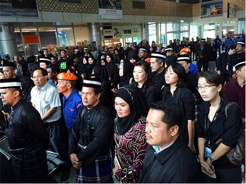 Malaysian Flight MH17 Victims Return Home - Family Members Waiting at Sultan Azlan Shah Airport