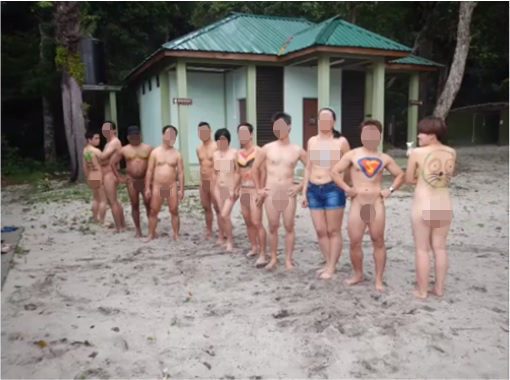 Penang Nude Sports Games 2014 - group photo - pixel