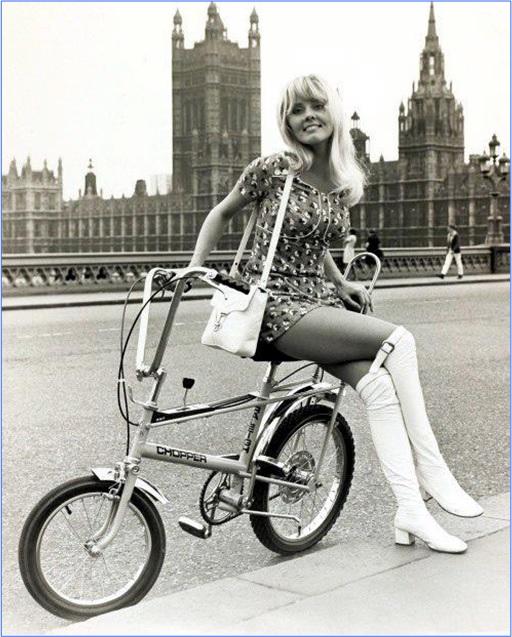 Raleigh Chopper Mark 1 - Girl on Bike