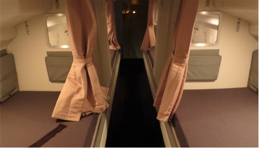 Secret Revealed - Crew Rest Area - Cabin Crew Rest Area - Singapore Airline Boeing 777
