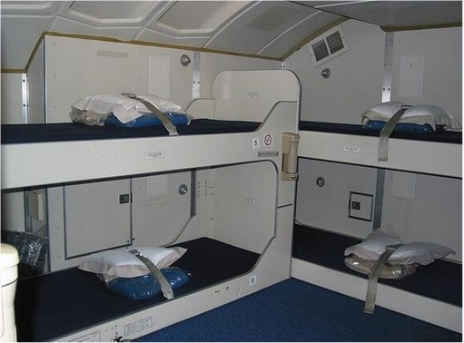 Secret Revealed - Crew Rest Area - Cabin Crew Rest Area on Boeing 747 - less luxury