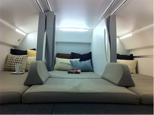 Secret Revealed - Crew Rest Area - Cabin Crew Rest Area on Boeing 787 Dreamliner - No food or drink