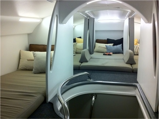 Secret Revealed - Crew Rest Area - Cabin Crew Rest Area on Boeing 787 Dreamliner