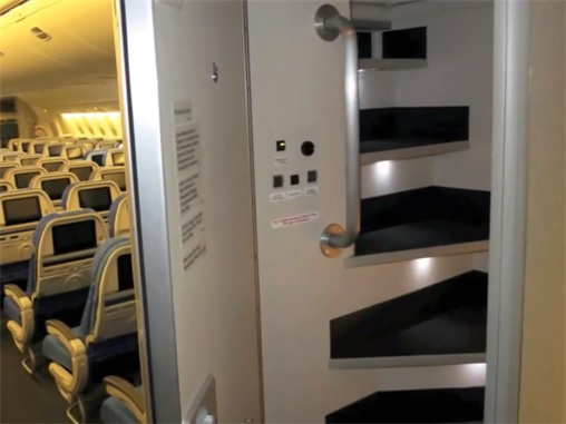 Secret Revealed - Crew Rest Area - Security-Locked Door for Cabin Crew at Rear