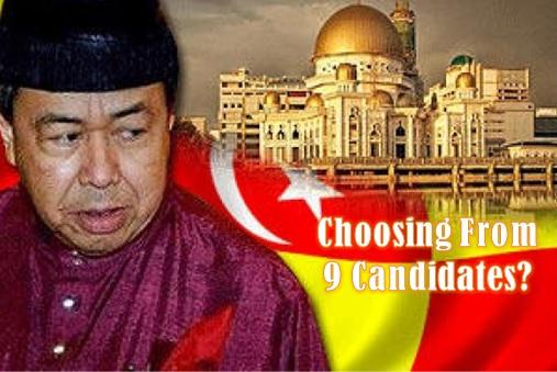 Selangor - Operation Kajang - Sultan Selangor Choosing from 9 Candidates