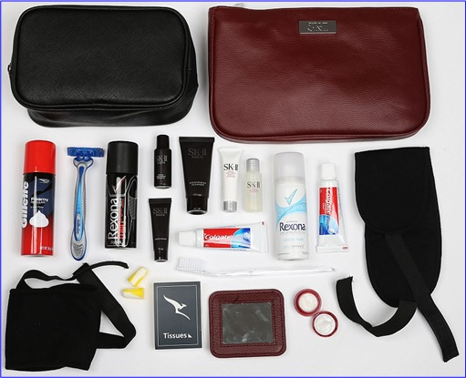 Top-15 Best & Luxurious First Class Amenity Kits - Qantas - 5 Stars