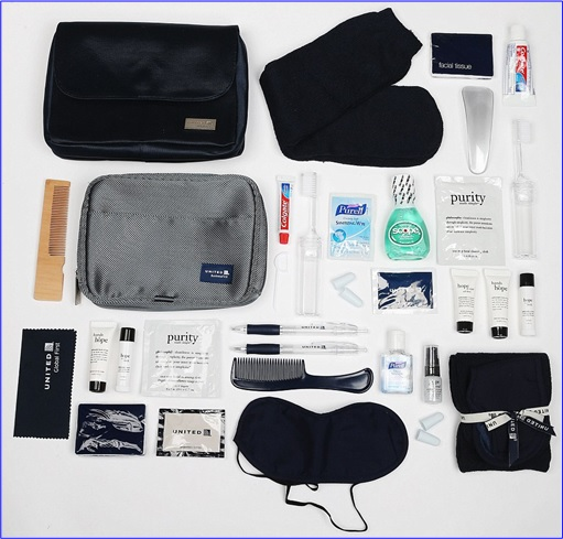 Top-15 Best & Luxurious First Class Amenity Kits - United Airlines - 6 Stars