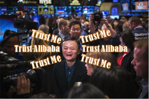 Alibaba IPO - First Day Trading - Jack Ma Says Trust