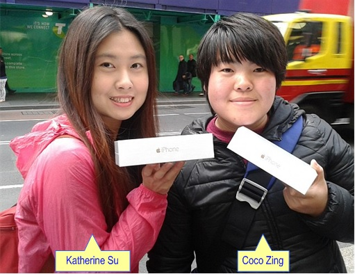 Apple Fans Queue for iPhone 6 in Australia - Katherine Su and Coco Zang