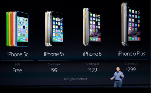 Apple Pricing Comparison - iPhone 5C vs iPhone 5S vs iPhone 6 vs iPhone 6 Plus