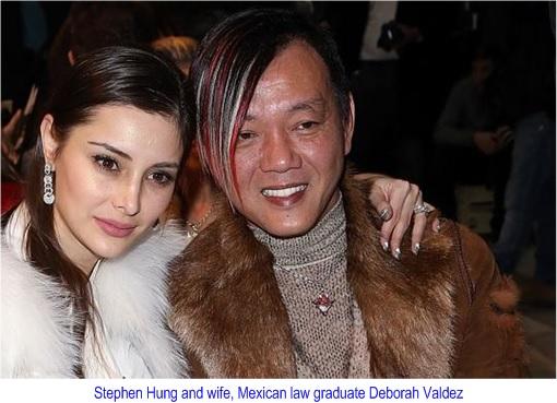 Billionaire Stephen Hung and wife Deborah