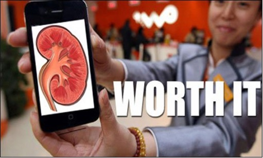 Chinese Teenage Sells Kidney for iPhone 4