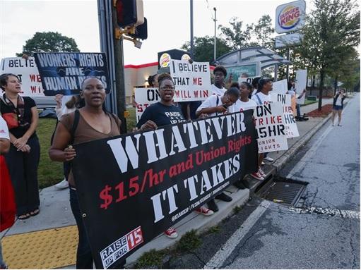Fast Food Workers Strike - Burger King - 1