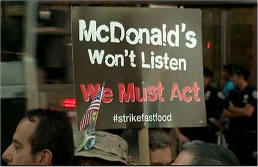 Fast Food Workers Strike - McDonald's - 1