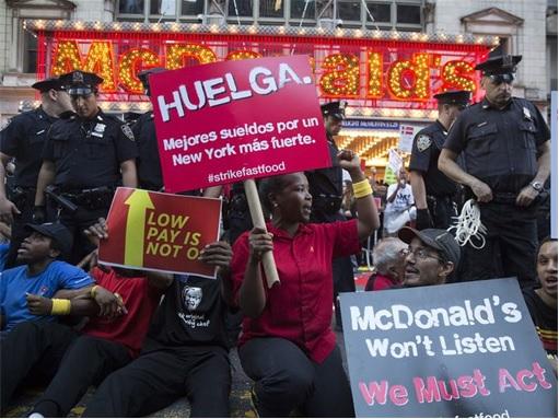 Fast Food Workers Strike - McDonald's - 4