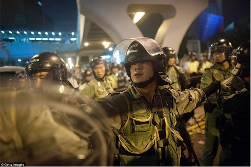 Hong Kong Demonstrations - Police - 2