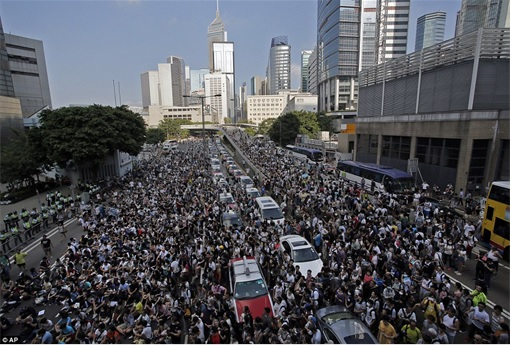 Hong Kong Demonstrations - Thousands Protestors - 3