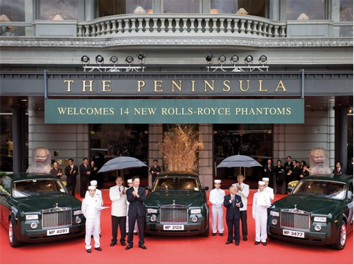 Hong Kong Peninsula 14 Rolls-Royce Phantom